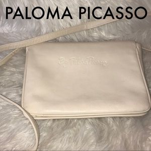Paloma Picasso  cream leather crossbody